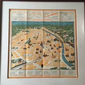 1938 Map Of Florence, Italy